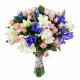 букет невесты из ирисов и роз