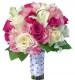 розовый букет невесты недорого